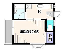 東京都東大和市南街5丁目の賃貸アパートの間取り