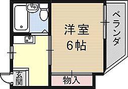 メゾンソレイユI[5階]の間取り