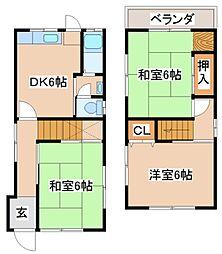 [一戸建] 兵庫県神戸市須磨区神撫町5丁目 の賃貸【/】の間取り