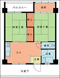 第9上村ビル[1階]の間取り