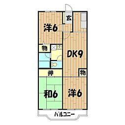 クレール二俣川(本宿町)[103号室]の間取り