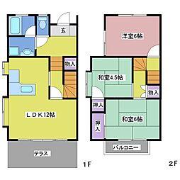 タウンハウス粟津[B1号室]の間取り