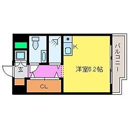 ワコーレプラティーク神戸深江駅前[202号室号室]の間取り