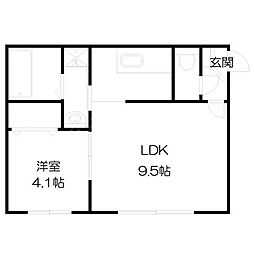 北海道札幌市中央区南七条西25丁目の賃貸マンションの間取り