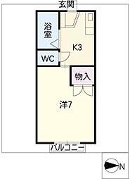 アークコート 1[1階]の間取り