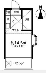 東京都杉並区高円寺南1丁目の賃貸アパートの間取り