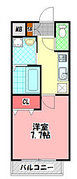 レーヴメゾン守口京阪本通 3階1Kの間取り