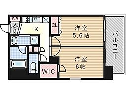 エステムプラザ福島ジェネル[7階]の間取り