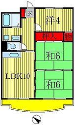 戸ヶ崎ロイヤルハイツ[3階]の間取り