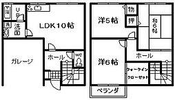 [テラスハウス] 大阪府泉佐野市中町3丁目 の賃貸【/】の間取り