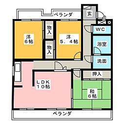 ソレイユ社ヶ丘[3階]の間取り