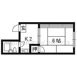 コーポ松尾[3-A号室]の間取り