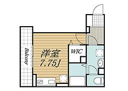 JR総武線 西千葉駅 徒歩7分の賃貸アパート 3階ワンルームの間取り