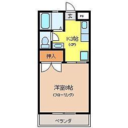 栃木県宇都宮市上戸祭町の賃貸マンションの間取り