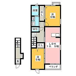 アヴァンティ平井[2階]の間取り