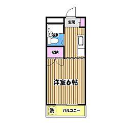ドゥエル中和田[3階]の間取り