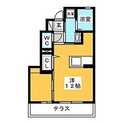 三重県名張市蔵持町原出の賃貸アパートの間取り