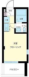 東京都江東区東陽1丁目の賃貸アパートの間取り