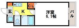 セレッソ中川[105号室]の間取り
