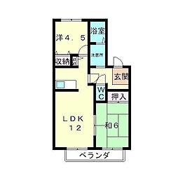 MロイヤルA棟[2階]の間取り