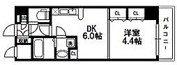 セントロイヤルクラブ新大阪[5階]の間取り
