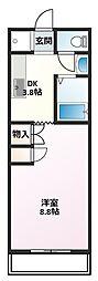 M Stage Ohmura[5階]の間取り