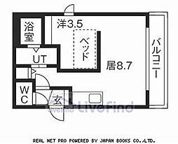 札幌市営東西線 東札幌駅 徒歩3分の賃貸マンション 4階1LDKの間取り