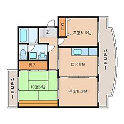 静岡県静岡市清水区長崎新田の賃貸マンションの間取り