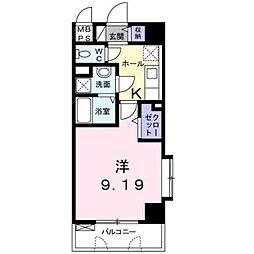 JR鹿児島本線 熊本駅 徒歩5分の賃貸マンション 1階1Kの間取り