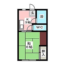 川本アパート[-2階]の間取り
