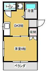 神奈川県大和市柳橋4丁目の賃貸マンションの間取り