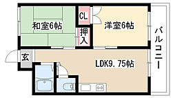 愛知県名古屋市天白区野並4丁目の賃貸マンションの間取り