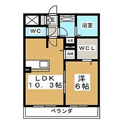 D'room八乙女中央 B棟[1階]の間取り