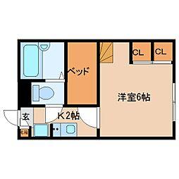 近鉄京都線 大和西大寺駅 バス14分 平城中山北口下車 徒歩5分の賃貸マンション 1階1Kの間取り
