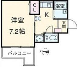 東京都江東区亀戸3丁目の賃貸マンションの間取り