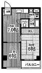 カーサヴィア船堀[6階]の間取り