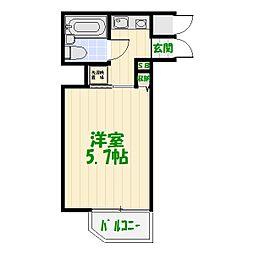 コスモ亀有V[8階]の間取り