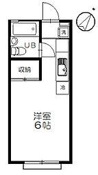 サニー元町I[203号室]の間取り