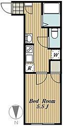 練馬区高松4丁目計画 5階1Kの間取り