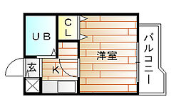 福岡県宗像市栄町の賃貸マンションの間取り