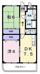 ウインベル赤田[2階]の間取り