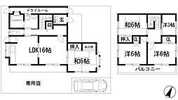 [一戸建] 兵庫県川西市大和東5丁目 の賃貸【/】の間取り