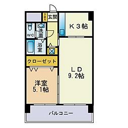 福岡県福岡市西区北原1丁目の賃貸マンションの間取り