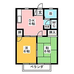 サンヴィレッジ91[1階]の間取り