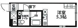 東京都杉並区上高井戸2丁目の賃貸マンションの間取り