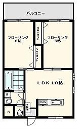 ハイムアントレ[2階]の間取り