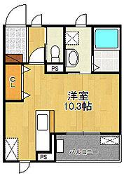 エレガント塚崎[3階]の間取り