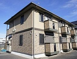 栃木県宇都宮市西原町の賃貸アパートの外観