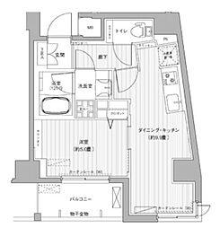 都営浅草線 東日本橋駅 徒歩3分の賃貸マンション 3階1DKの間取り