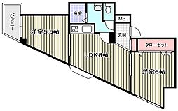 ワンダーグランドハイツ[8階]の間取り